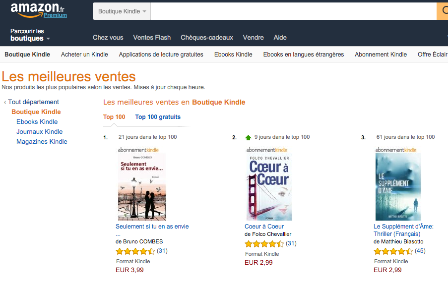 Amazon.fr Les meilleures ventes Top 2 !! - copie